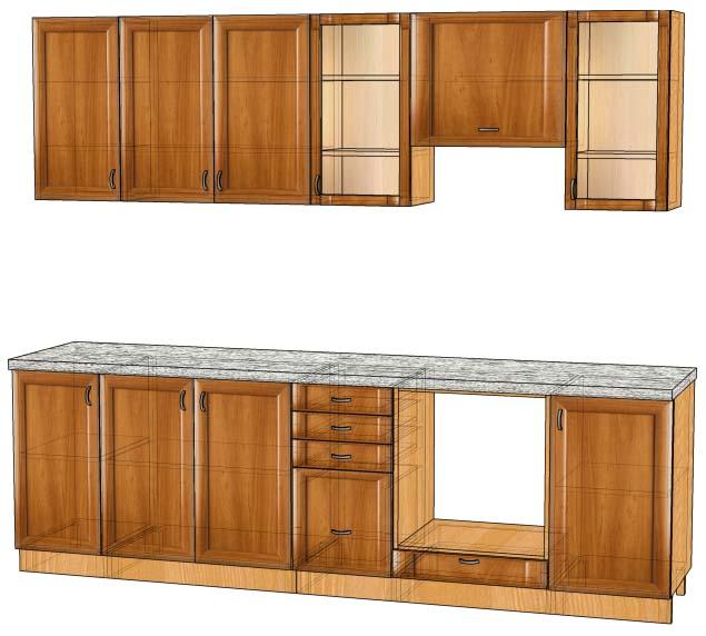 Кухня фасади деревяні вільха