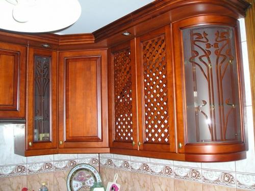 Кухня вільха (фасад дерево)-001